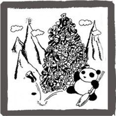 アンアン・ミニコミで連載していたパンダの絵 <byパンツ屋エディ> 1977年5月5日号掲載