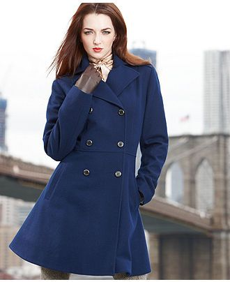 Possible Fall Winter Navy Coat Anne Klein Coat Double