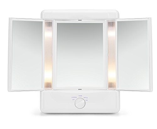 Illumina By Conair Collection Two Sided Lighted Makeup Mirror With