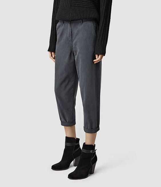 Womens Paz Garment Dye Chino (Grey) - product_image_alt_text_2