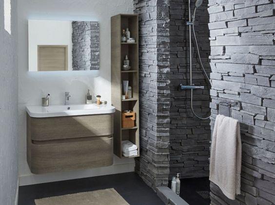 Salle de bains douche en pierre salle de bains for Deco salle de bain pierre