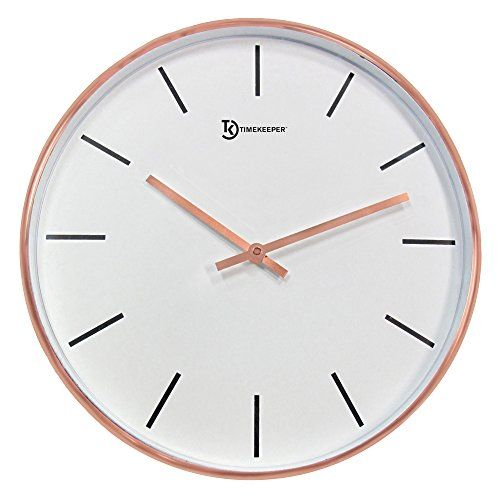 10 Best Copper Rose Gold Wall Clocks Today Gold Wall Clock Wall Clock Modern Metal Wall Clock