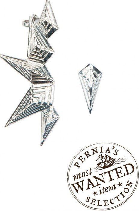 Latest silver geometric tribal ear-cuffs  online via @roposolove