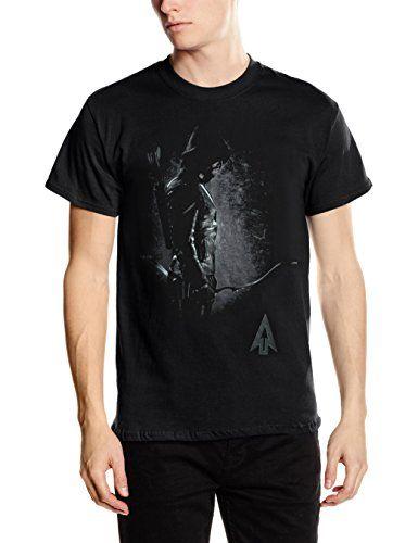 DC Comics Arrow Hooded Focus - camiseta Hombre, Negro (Schwarz - Schwarz), Large #camiseta #starwars #marvel #gift