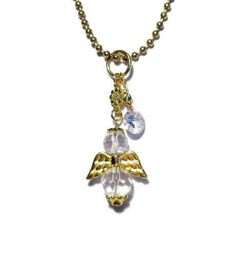 Halskette für Mädchen mit Schutzengel Anhänger und Zirkonia