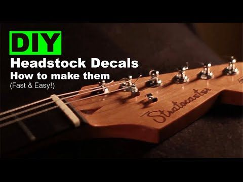 Diy Headstock Decals How To Make Them Fast Easy Youtube Easy Youtube How To Make Waterslide Decal Paper