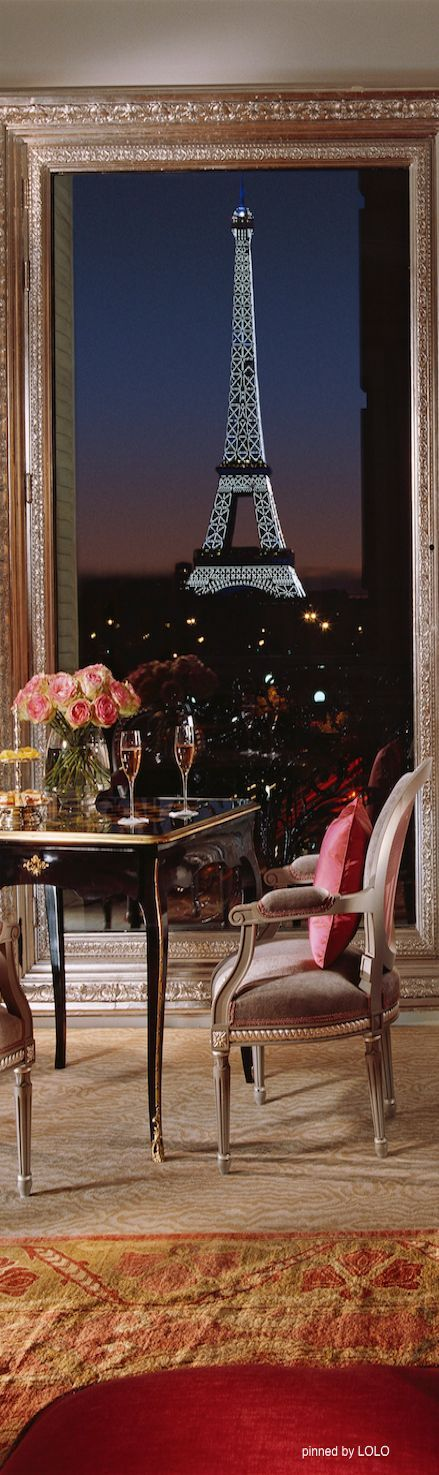Dinner at the Hotel Plaza Athenee,Paris