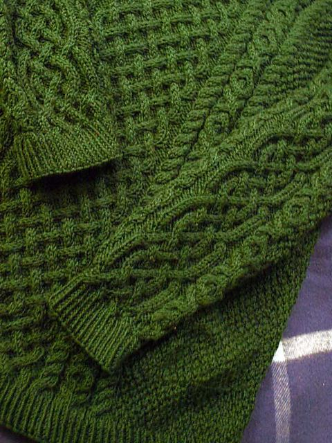 Ravelry: Double moss stitch sweater pattern by Harmony Class hand knitted ...