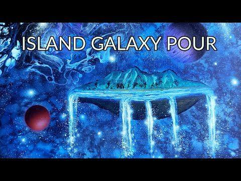 Acrylic Galaxy Pour Galaxy Painting Fluid Art Island In Space Youtube Galaxy Painting Fluid Art Art
