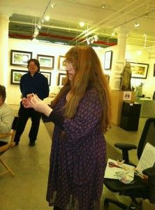 Wendy and Brian Froud conducting a workshop at AFANYC.  Froud Meditations - Pathways to Faery. www.WorldofFroud.com  www.BBPCreations.com