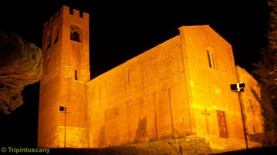 Night view of the Pieve di San Giovanni Battista - Corazzano - San Miniato (Pisa) - It has a  fascinating history starting from the 08th-century under the Church of Lucca until today...