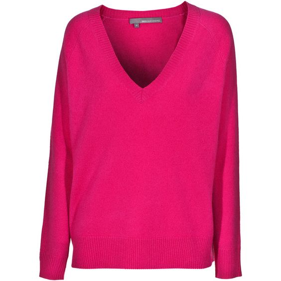 360 Sweater Emery Tulip Cashmere Pullover ($365) ❤ liked on Polyvore