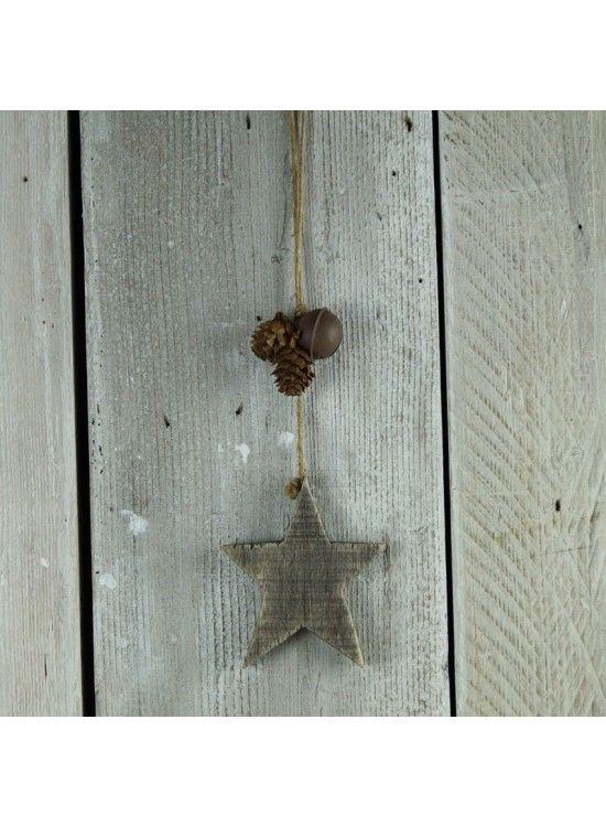 Driftwood Star Hanging Decoration  @ rosefields.co.uk