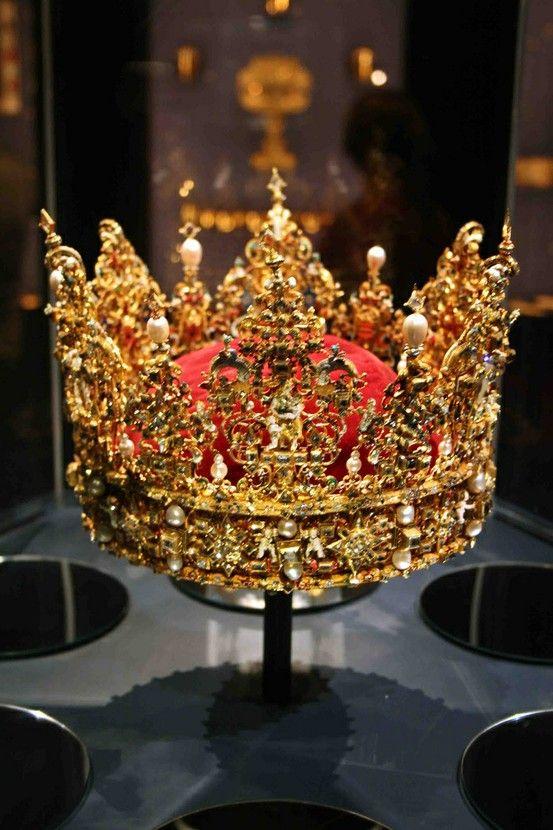 The Danish crown jewels at Rosenborg Castle in Copenhagen.