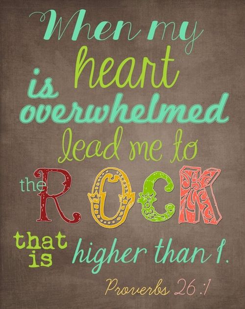 The correct reference is Psalm 61:2 KJV, From the end of the earth will I cry unto thee, when my heart is overwhelmed: lead me to the rock that is higher than I.