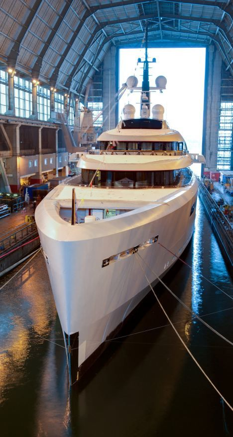 Britain's richest woman splashes out £100million on 96-metre yacht - the biggest ever built in the UK