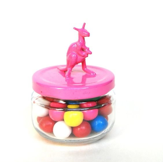 Pink Kangaroo Storage Jar by TonysDinostore on Etsy