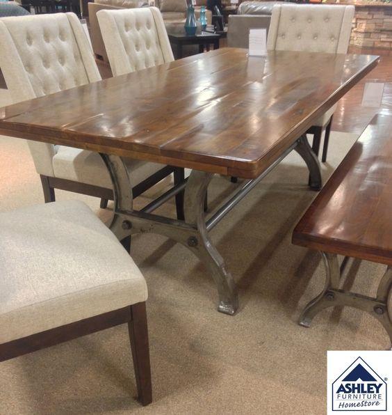 Rustic Farmhouse Dining Table, Ranimar Dining Room Ashley Furniture