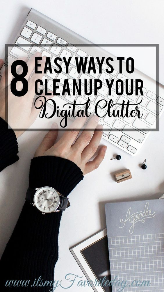Personally my desktop can use some serious decluttering. These are all fantastic ways to clean up your digital clutter. If you're files are a mess you're gonna want to read this! Repin for sure! #digitalclutter