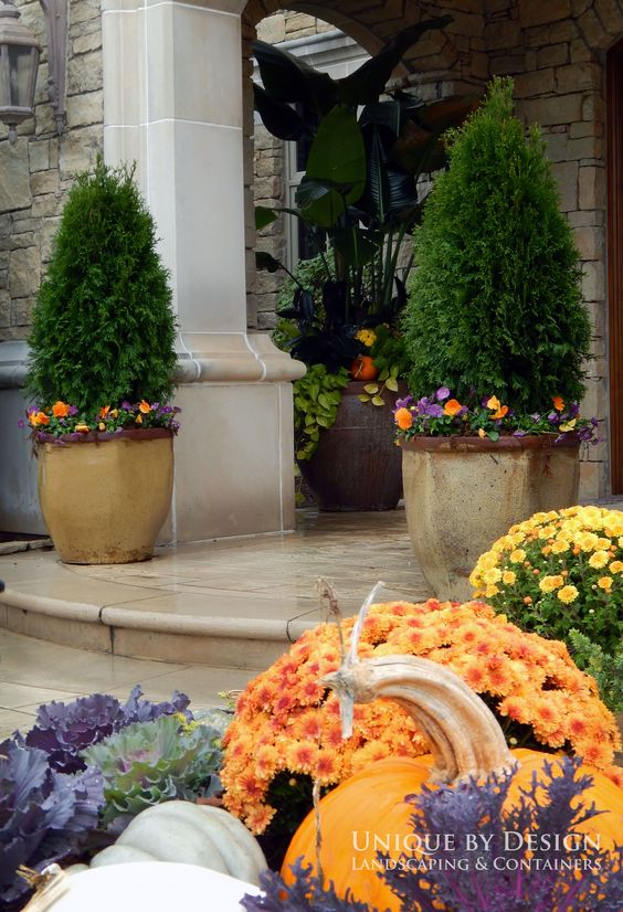 Unique by design l helen weis fall container gardening - Unusual planters for outdoors ...
