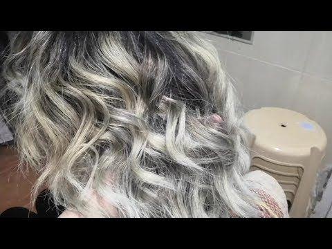 صبغ الشعر فضي دخاني إستعمال المصحح الازرق التخلص من اللون البرتقالي Youtube