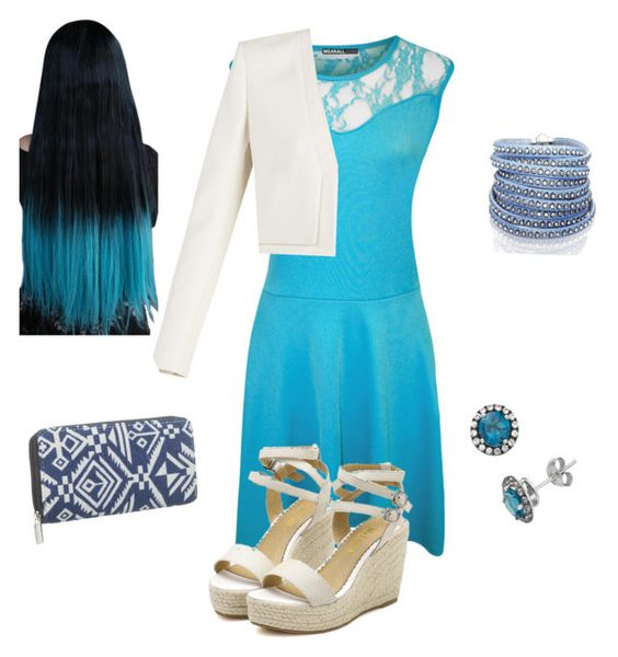 """""""Blue and white"""" by tianna-rose-richardson ❤ liked on Polyvore featuring WearAll, BCBGMAXAZRIA, Sif Jakobs Jewellery and maurices"""