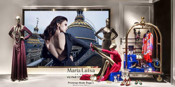 Printemps Palace 2015 Maria Luisa, Le Soir - Alexandre Vauthier vu par Steve Hiett au Printemps, Paris. photos@FrancisPeyrat