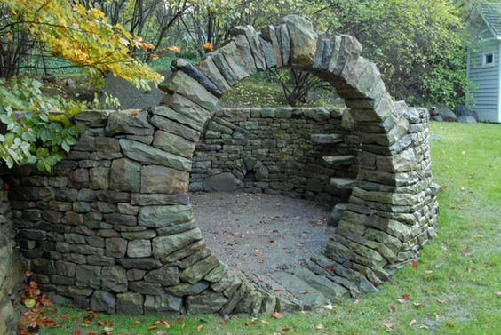 Dry Stone Double Arch by Eblacker & Stone: