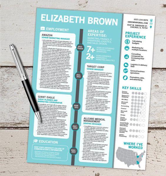 The Elizabeth Resume Design Graphic Design By Vivifycreative