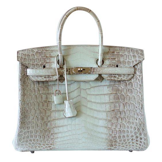 fake hermes bags for sale - HERMES BIRKIN 35 HIMALAYA Crocodile palladium hardware | ++Amazing ...