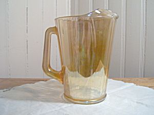 LATE CARNIVAL GLASS  PANELED PITCHER by JEANNETTE