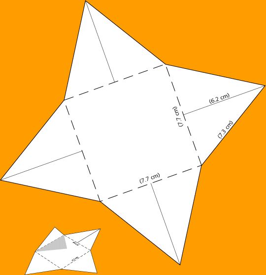 Make a scaled model of a pyramid-Paper diagram to print, cut out - pyramid template