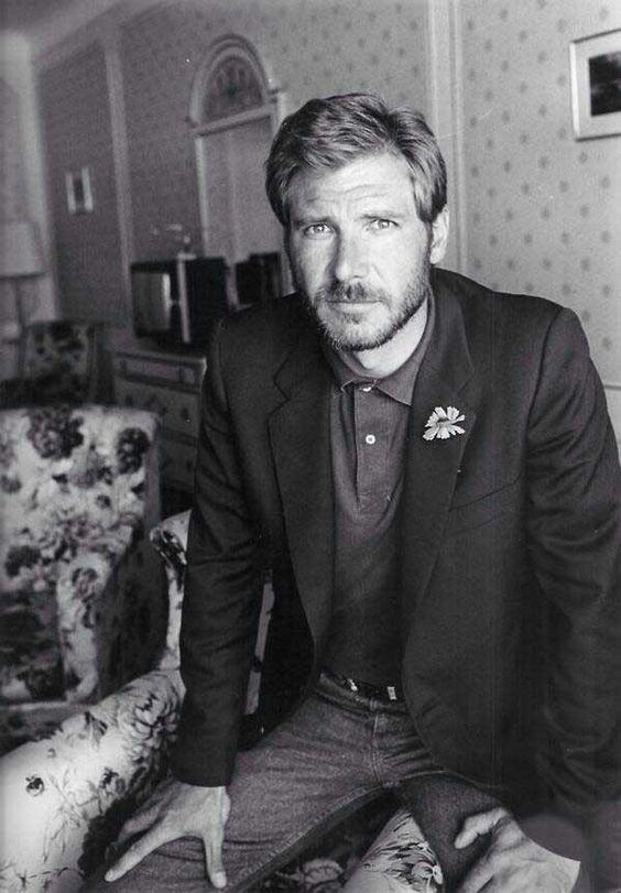 Un joven Harrison Ford y su #barba #beards #barbas #famosos