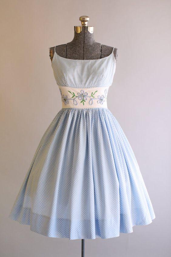 Vintage 1950s Dress / 50s Cotton Dress / by TuesdayRoseVintage jαɢlαdy