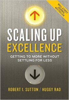 The authors tackle a challenge that determines every organization's success: scaling up farther, faster, and more effectively as a program or an organization creates a larger footprint. Sutton and Rao have devoted much of the last decade to uncovering what it takes to build and uncover pockets of exemplary performance, to help spread them, and to keep recharging organizations with ever better work practices. Cote 4-11 SUT
