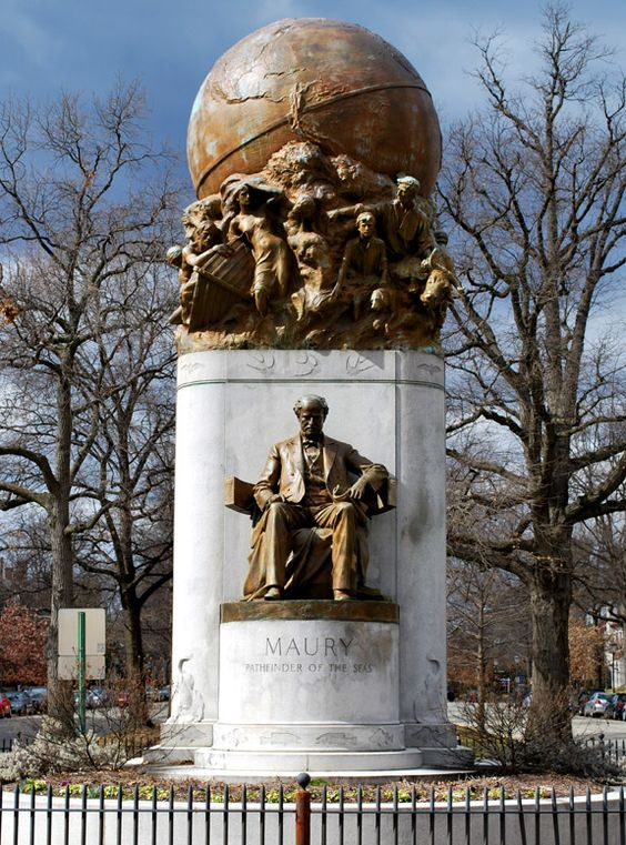 Statue of Matthew Fontaine Maury on Monument Avenue in Richmond, Virginia: