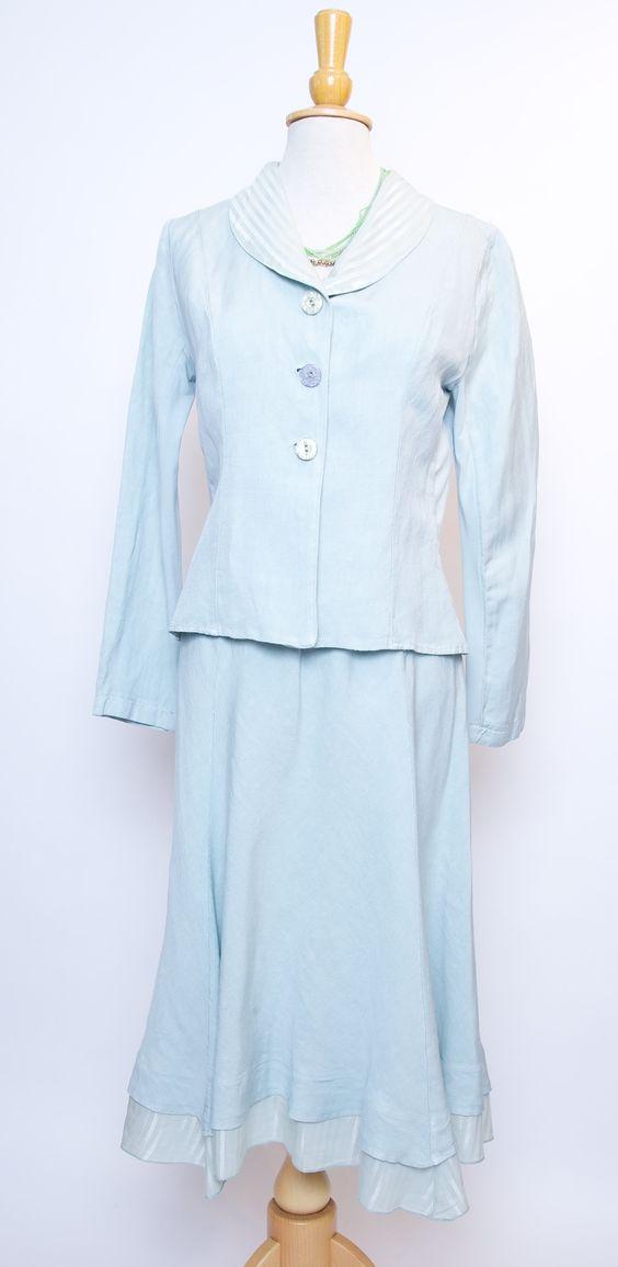 Out of Xile linen suit in ice blue #outofxile #suit #boutiquedresses #fashionboutique