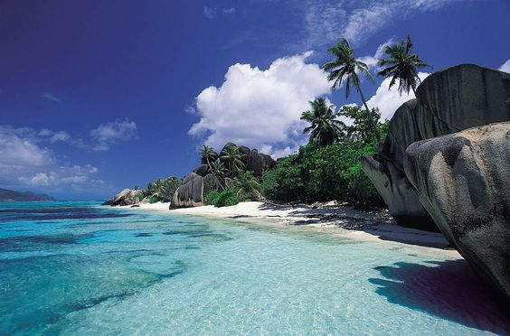 some where you can see you feet in the water even in the deep end :) Seychelles Island, Africa