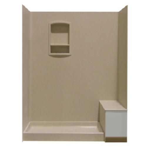 Swanstone Shower Wall Kit With Bench Seat At Lowes Bathroom Shower Optio