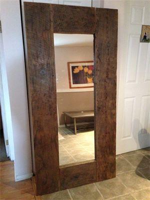 Miroir 6 39 39 x 3 39 39 en bois de grange d co pinterest for Miroir bois de grange