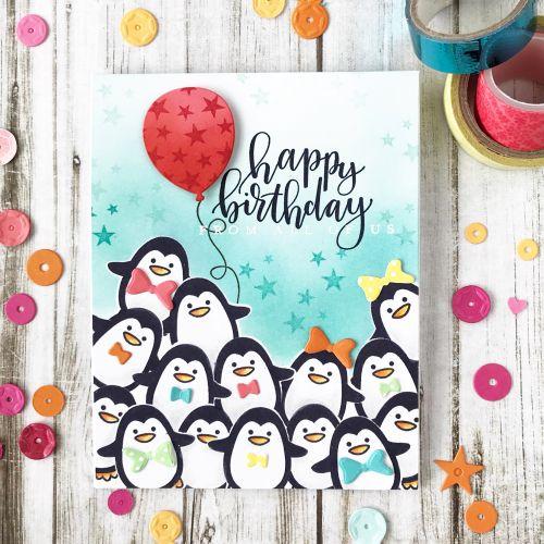 Throwback Thursday Winter Penguin Birthday Cards Diy Cards Handmade Birthday Cards