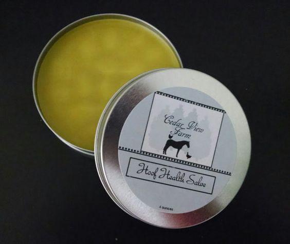 Organic Herbal Hoof Health Salve  Treats thrush by CedarViewFarm