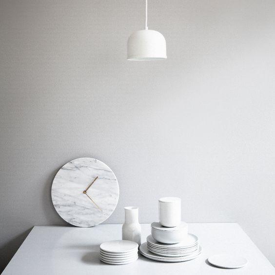 Menu Marble Wall Clock by Norm Architects | The wall clock reborn | MenuDesignShop.com