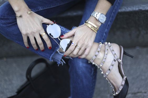 Aviators, accessories and Valentino rockstuds.