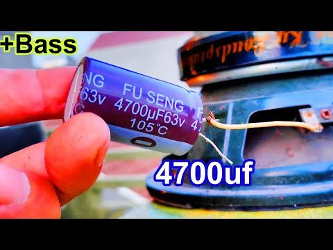Capacitor 4700uf Increase Bass For Speakers 3 Tips Restoration Tv Capacitor Youtube Diy Amplifier Audio Amplifier Electronic Circuit Design