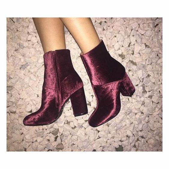 UO: velvet booties fall 16