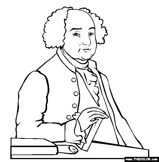 John Adams Coloring Page