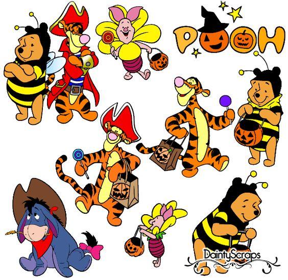 Disney Pooh Halloween SVGs daintyscraps.com