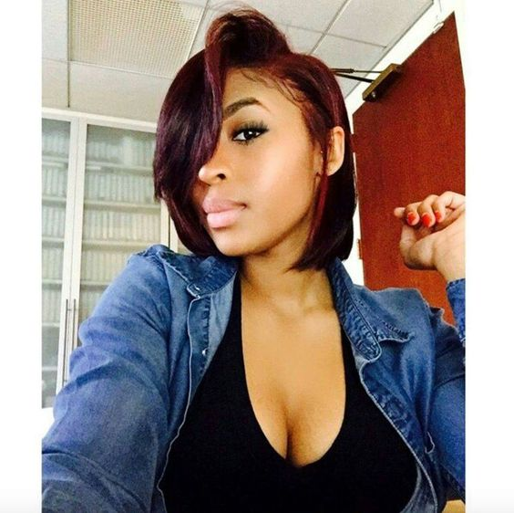 Brilliant Burgundy Bobs And Hair Color On Pinterest Hairstyles For Women Draintrainus