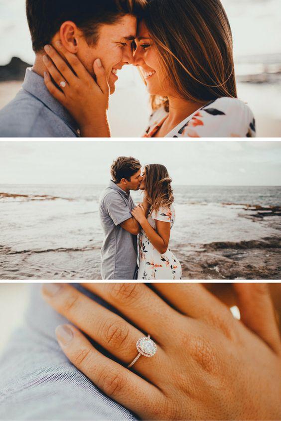 Cutest beach engagement photos EVER.